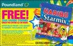 Free 250g bag of Haribo Starmix this weekend with a £2 spend @ Poundland