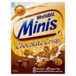 Weetabix minis chocolate crisp 375g box 79p @ Netto