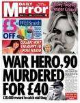 £5 off when you spend £15 on Stationary or education books @ WH Smith voucher in Thursday's Daily Mirror