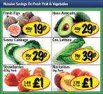 lidl - Figs 19p/ Hass Avocado 29p/ Savoy Cabbage 29p/ Cos Lettuce 39p/ Strawberries 400g £1/ Nectarines 1kg £1