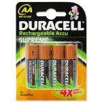 Duracell supreme ni-mh 2450mAh rechargeable battery pack of 4 AA - £3.79 delivered 7dayshops amazon outlet!! cheapest its been for a while!