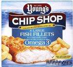 Young's Chip Shop Large Fish Fillets with Omega 3 (4 per pack - 500g) (Half price £1.98) @ Sainsburys