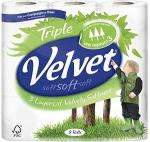 Velvet Triple Layer White Toilet Tissue 9 Roll pack £3.49 @ Tesco