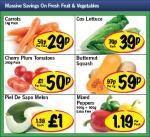 Lidl - Carrots 1kg 29p/ Cos lettuce 39p/ Cherry plum tomatoes 250g 50p/ Butternut squash 59p/ Piel De Sapo Melon £1/ Mixed Peppers 500g + 500g free £1.19