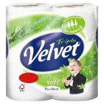 Velvet Triple Layer White Toilet Tissue 4 Roll pack + 2 free £1.75 @ Superdrug instore (or £1.25 with coupon)