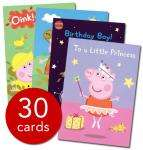 Peppa Pig Greeting Cards - 30 cards £4.99 Delivered @ thebookpeople. 75% discount!