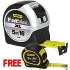 Stanley FatMax XL Tape 5m/16ft + FREE  5m/16ft Stanley Bi-material Tape measure £16.93 @ ITS London