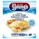 Youngs 7 Wild Pink Salmon Fillets 630G HALF PRICE (£4.99) @ TESCO