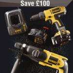 DeWalt DC733KA Builders Twin Pack 2kg SDS Plus Drill & 14.4V Drill Driver Was £249.99 now £149.99 @ screwfix