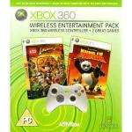 XBOX 360 Entertainment pack (includes wireless controller & 2 xbox 360 games: Lego Indiana Jones, Kung fu Panda)  £24.99 @  (comet instore).