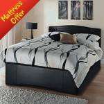 Toronto Faux Leather Bed - Double 1/2 price £90 @ Asda