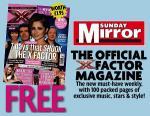 Free X Factor Magazine in Todays Sunday Mirror