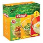 Pyrex 3 Piece Bowl Set 0.5L, 1.0L 2.0L £5 Instore Asda