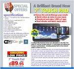 """7"""" Android touch Pad £95 @ IJTDirect"""