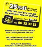 Fon-A-Cab 25% Discount Card