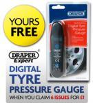 6 Issues for £1 of AutoExpress + FREE Draper Digital Tyre Pressure Gauge!