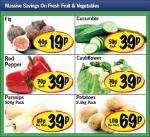 Lidl - Figs 19/ Cucumber 39p/ Red Pepper 39p/ Cauliflower 39p/ Parsnips 500g 39p/ Potatoes 2.5kg 69p