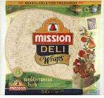 Mission 8Pk Deli Wrap Herb Mediterranean 2 packs for £1.75 (Half price) @ Tesco