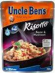 Uncle Ben's Bacon & Mushroom Risotto (250g) £1.78  any 3 for £4.00 @ Sainsburys