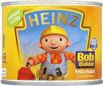 Heinz Bob the Builder Multigrain Pasta Shapes in Tomato Sauce with Omega 3 (205g) 4 for £1 were 44p each @ Morrisons