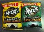 McCoys Curry Deal - two main curry dishes for the price of one with every pack purchased.