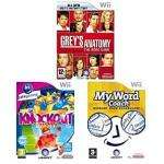 Wii Triple Pack - My Word Coach + Greys Anatomy + Knockout Party @ asda for £20.00!