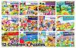 12 Assorted Children's Puzzles Bumper Pack -save £35 - £12.99 or less using voucher codes  @ The ToyShop