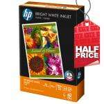 HP Bright White Inkjet paper 90gsm 250sheet (half ream) £1.75 @ Viking Direct + p&p