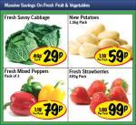 Lidl - Fresh Savoy Cabbage 29p/ New Potatoes 1.5kg 59p/ Fresh Mixed Peppers x3 79p/ Fresh Strawberries 400g 99p