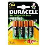 Duracell Supreme AA 2450mAh Rechargeable Pack of 4 Batteries £4.91 delivered @ Amazon (Save £7.08)