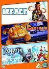 Robots / Ice Age / Garfield The Movie DVD £5.73 at Asda