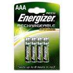Energizer AAA  Rechargeable 1000mah batteries x 4 ,£2.98 @ ASDA