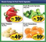 Lidl - Fresh Red Pepper 39p/ Brussels Sprouts 500g 39p/ Baby Potatoes 1kg 49p/ Fresh Clementines 1kg 99p
