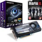 Gigabyte GeForce GTX 470 OC 1280MB GDDR5 with MAFIA 2  £199