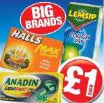 Branded cold and Flu remedies £1 each @ Poundland
