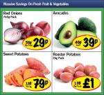 Lidl - Red Onions 750g 29p/ Avocados 39p/ Sweet Potatoes 79p/kg/ Rooster Potatoes 2kg £1