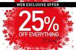 25% off everything at d2 jeans