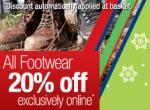 20% off All Footwear @ Millets.co.uk