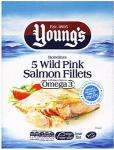 Young's Wild Pink Salmon Fillets (5 per pack - 450g) £1 @ Sainsbury's [instore]