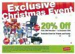 20% off at Staples