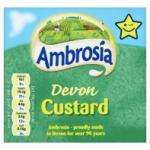 Ambrosia Ready to Serve Devon Custard & Low Fat, & Chocolate Version (500g) Two for £1 at Tesco