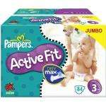 Pampers Active Fit Nappies Size 3, 4, 4+, 5, 5+ now £16 or less del for 2 Jumbo boxes subscribe & save an extra 10% £15.64 @ Amazon