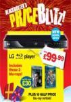LG BD550 Blu-Ray Player + Robin Hood & Toy Story 3 + 10 Half Price Blu Ray Rentals - Instore & Online - £99.99 @ Blockbuster