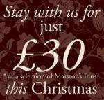 Bed & Breakfast from £30 per room at Marston's Inns