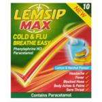 Lemsip Cold and Flu Breathe Easy 10 Pack & also the MAX capsules for £1.00 *and Other cold/ Flu remedies @ *POUNDWORLD*