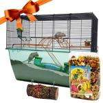 XL Gerbilarium/Small Animal Cage With Food and Toy + A Rubber Chicken! :P £53.99 @ Zooplus