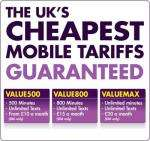Unlimited Calls and Text for £20 a month. 30 day rolling contract Sim Only Value Max @ Utility Warehouse