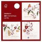 Half Price Christmas Cards, Wrapping Paper And Christmas Crackers @ Sainsburys