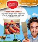 Sizzlerz BBQ Feast Jumbo Pork Sausages (4 per pack - 400g) - instore only @ Sainsburys 50p