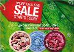 50% off many items @ The Body Shop